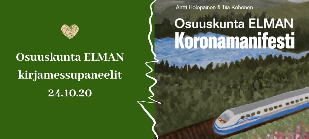 Osuuskunta Elman kirjamessupaneelit 24.10.20