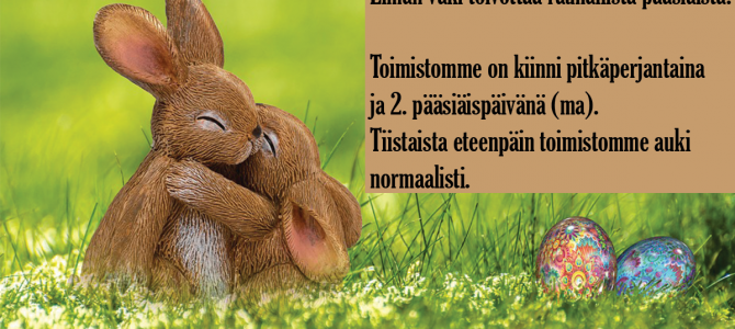 Elman väki toivottaa rauhallista pääsiäistä!
