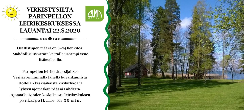 VIRKISTYSILTA PARINPELLON LEIRIKESKUKSESSA 22.8.2020