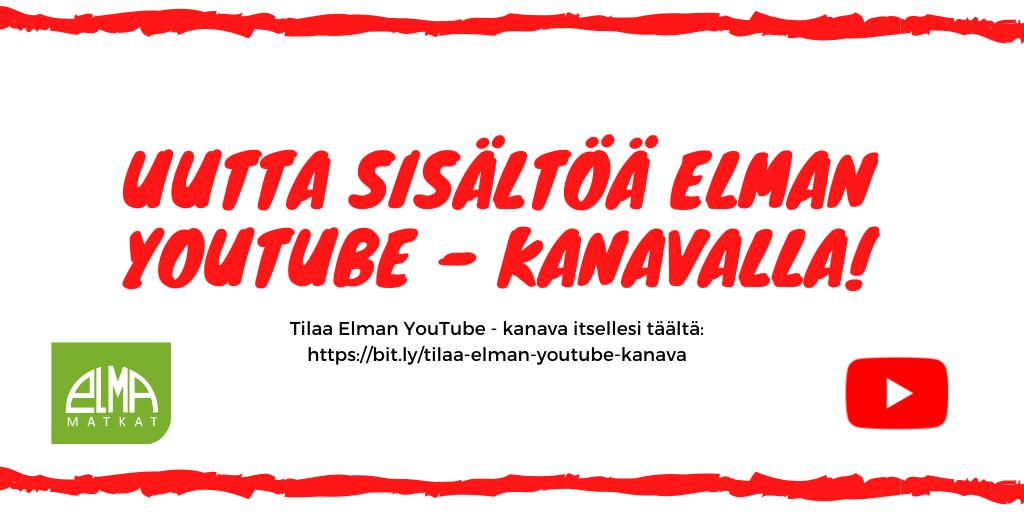 Katso uutta sisältöä Elman YouTube-kanavalta
