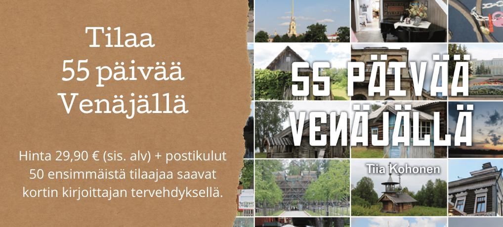 Tilaa 55 päivää Venäjällä – kirja